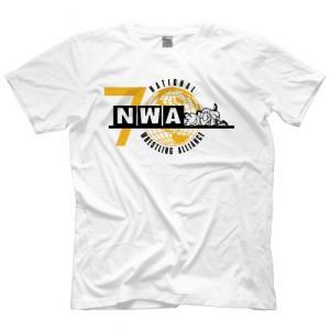 NWA(National Wrestling Alliance) Tシャツ「NWA NWA 70th Anniversary Tシャツ(ホワイト)」 米直輸入プロレスTシャツ freebirds