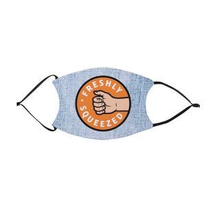 オレンジ・キャシディ プリントマスク 布製 フィルターポケット付き「AEW ORANGE CASSIDY Freshly Squeezed Mask」 アメリカ直輸入品(フィルター2枚付属) freebirds