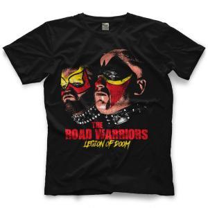 ロード・ウォリアーズ Tシャツ「Road Warriors Death Stare Tシャツ」【アメリカ直輸入 プロレスTシャツ 大きいサイズ(XXL 3XL 4XL)もあり】|freebirds