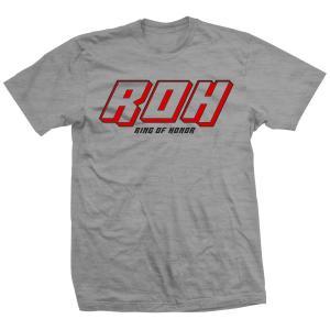 ROH ビンテージ・ロゴ Tシャツ「Ring Of Honor ROH Original Grey Tシャツ」【アメリカ直輸入 大きいサイズ(XXL 3XL 4XL)もあり】|freebirds