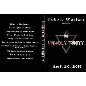 Unholy Warfare DVD「Unholy Trinity」(2019年4月20日ノースカロライナ州リーズビル)  アメリカ直輸入盤DVD《日本盤未発売》