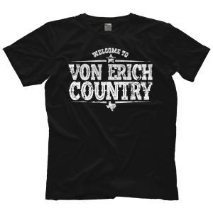 MLW 鉄の爪三世 エリック兄弟(ロス&マーシャル) Tシャツ「THE VON ERICHS Welcome To Von Erich Country Tシャツ」 米直輸入プロレスTシャツ freebirds
