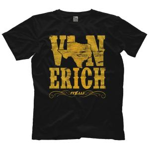 MLW 鉄の爪三世 エリック兄弟(ロス&マーシャル) Tシャツ「THE VON ERICHS Von Erichs Texas State Tシャツ」 米直輸入プロレスTシャツ freebirds