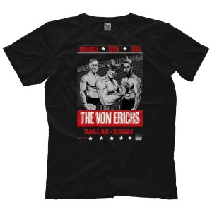 MLW 鉄の爪三世 エリック兄弟(ロス&マーシャル) Tシャツ「THE VON ERICHS Father & Sons Tシャツ」 米直輸入プロレスTシャツ freebirds
