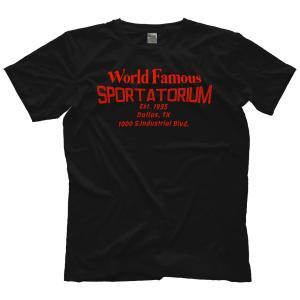 MLW 鉄の爪三世 エリック兄弟 Tシャツ「THE VON ERICHS World Famous Sportatorium スポータートリアム Tシャツ」 米直輸入プロレスTシャツ freebirds