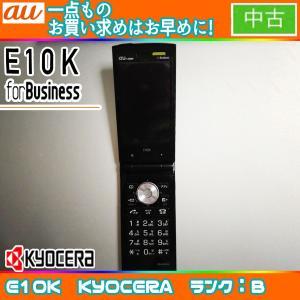 値下げ au E10K ブラック ランクB ※お使い頂くには、別途auショップにて[ICカードロッククリア]が必要です|freedom-telwork