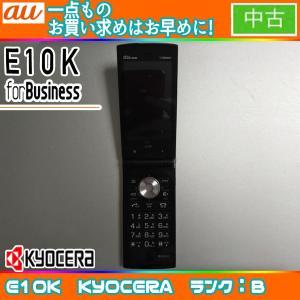 値下げ au E10K ブラック ランクB ※お使い頂くには、別途auショップにて[ICカードロッククリア]が必要です freedom-telwork
