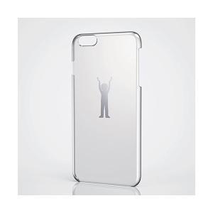 【iPhone 6 Plus】 シェルカバー/アップルテクスチャー【ELECOM】 ポイント消化|freedom-telwork