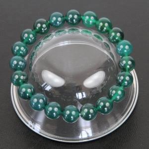 【開運】グリーンアゲート(緑瑪瑙) 10mm玉【パワーストーン 天然石数珠 みどりめのう】【メール便対応】┃|freedom-web