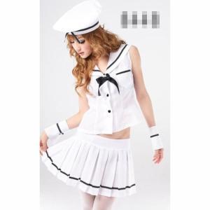 コスプレ 衣装 海兵 制服 ホワイト イベント パーティー Costume-8448 ┃|freedom-web