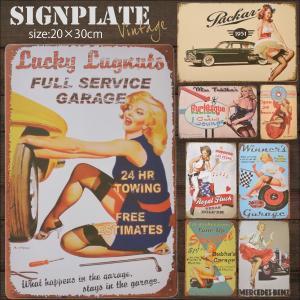 ブリキ看板(ティンサイン/TIN SIGN)  アメリカン雑貨 レトロな看板のような作りがGOOD。...