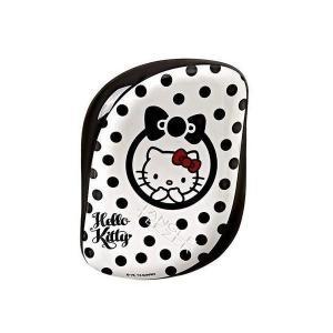 タングルティーザー コンパクトスタイラー ハローキティ ピュアホワイト ブラック ドット柄 [ ヘアブラシ くし ヘアケア 頭皮 濡れ髪 定番 携帯|freefeel