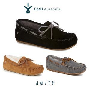 ムートン モカシン スエード ファー エミュ エミュー EMU Amity 大人女子 W10555 ボア レディース もこもこ 2017 送料無料|freekstore