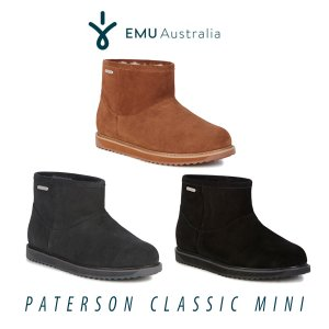 エントリーでポイント10倍 ムートン ブーツ シープスキン 防水 エミュ エミュー EMU パターソンクラシックミニ Person Classic Mini W11619 ボア|freekstore