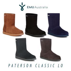 ムートン ブーツ シープスキン 防水 エミュ エミュー EMU パターソンクラシック Paterson Classic lo W11590 ボア レディース メンズ 2017 秋冬 送料無料|freekstore