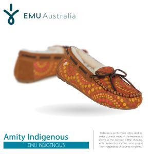 ムートン モカシン スエード ファー エミュ エミュー EMU Amity Indigenous 大人女子 W11650 ボア レディース もこもこ 2017 送料無料|freekstore