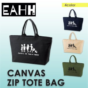 EAHH キャンバスジップトートバッグ/レディース メンズ ユニセックス|freekstore