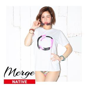 【送料無料メール便】Merge マージ Tシャツ/NATIVE-Ortega Circle LA ブランド インポート レディース メンズ 半袖 てろT ロサンゼルス ゆったり シンプル ロゴ|freekstore