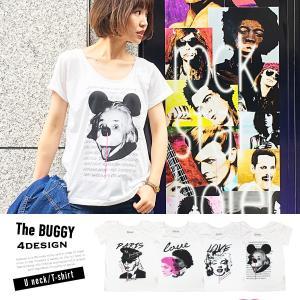 Tシャツ シャツ Uネック カットソー アート buggy バギー レディース メンズ 半袖 てろT【送料無料メール便】|freekstore