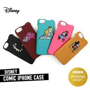 iPhone7 iPhone6 iPhone6s ケース 刺繍 ディズニー ミッキー ミニー アリス チェシャ猫 ダイナー アイフォンカバー アイフォーン メール便送料無料|freekstore