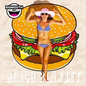 ラウンドタオル 大判ビーチラグ ハンバーガー BIGMOUTH ビッグマウス ビーチ THE BEACH PEOPLE 海 フェス ヨガマット ブランケット インポート アメリカ|freekstore