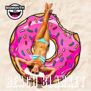 エントリーでポイント10倍 ラウンドタオル 大判ビーチラグ ドーナツ ビッグマウス ビーチ  THE BEACH PEOPLE 海 フェス ヨガマット ブランケット|freekstore