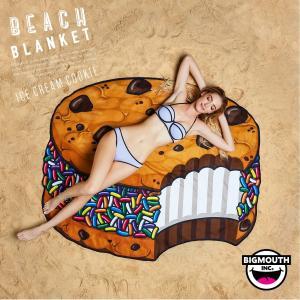 ラウンドタオル 大判ビーチラグ アイスクリーム クッキー BIGMOUTH ビッグマウス ビーチ THE BEACH PEOPLE 海 フェス ヨガマット ブランケット アメリカ|freekstore