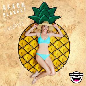 ラウンドタオル 大判ビーチラグ パイナップル BIGMOUTH ビッグマウス ビーチ THE BEACH PEOPLE 海 フェス ヨガマット ブランケット アメリカ|freekstore