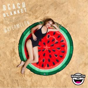 ラウンドタオル 大判ビーチラグ スイカ BIGMOUTH ビッグマウス ビーチ THE BEACH PEOPLE 海 フェス ヨガマット ブランケット アメリカ|freekstore