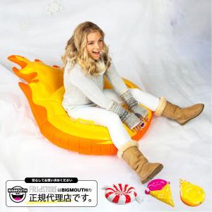 そり 雪そり 雪遊び スノーチューブ スノボー スノーボード スキー エアーチューブ ビッグマウス 人気 プレゼント BIGMOUTH SNOWTUBE ストロベリーアイスコーン|freekstore