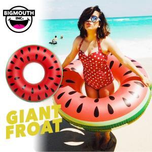 浮き輪 浮輪 うきわ ウキワ 大型 大きい ビッグ フロート 水着 ビキニ BIGMOUTH ビッグマウス スイカ インテリア ビーチ リゾート プール|freekstore