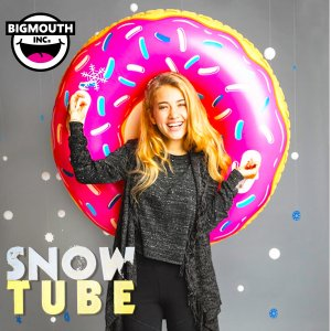そり 雪そり 雪遊び スノーチューブ スノボー スノーボード スキー エアーチューブ ビッグマウス 人気 プレゼント BIGMOUTH SNOWTUBE ドーナツ freekstore