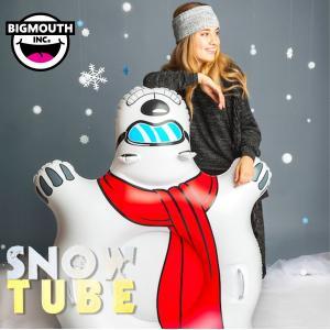エントリーでポイント10倍 そり 雪そり 雪遊び スノーチューブ スノボー スノーボード スキー ビッグマウス BIGMOUTH SNOWTUBE シロクマ|freekstore