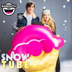 そり 雪そり 雪遊び スノーチューブ スノボー スノーボード スキー エアーチューブ ビッグマウス 人気 プレゼント BIGMOUTH SNOWTUBE ストロベリーアイスコーン freekstore