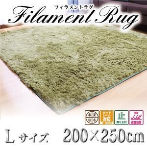 フィラメントシャギーラグ 洗える 200×250cm 滑り止め付 カーペット ホットカーペット対応 絨毯 リビング ラグの写真