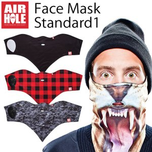 ゆうパケット対応1個迄 AIRHOLE FACEMASK STANDARD1 エアホール フェイスマスク デザインマスク 防寒 スノーボード あすつく対応|freeline