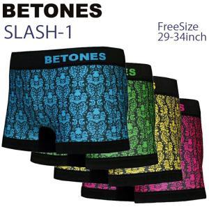 ゆうパケット対応2枚迄 BETONES ビトーンズ SLASH SL001 スカルデザイン フリーサイズ ボクサーパンツ アンダーウエア あすつく対応 freeline