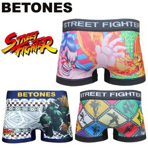 ゆうパケット対応2枚迄 BETONES ビトーンズ STREET FIGHTER ストリートファイターコラボ 限定版 <br>ボクサーパンツ 下着 インナー あすつく対応 freeline