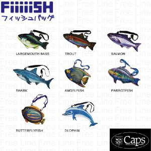 Caps Fiiiiish フィッシュバッグ 魚ショルダー 全13種 freeline