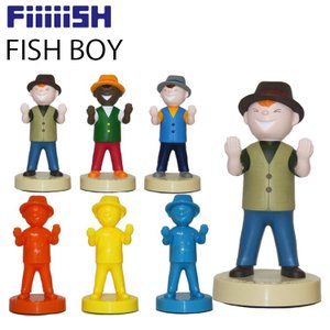 CAPS Fiiiiish FISH BOY スタンド 釣り インテリア フィッシュボーイ ペン置き フィギュア|freeline