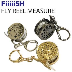 ゆうパケット対応2個迄 FiiiiiSH フライリールメジャーテープ 釣り具型メジャー 手巻きタイプ あすつく対応|freeline