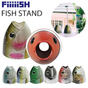 FiiiiiSH フィッシュスタンド 魚型スタンドホルダー 歯ブラシ立て ペン立て あすつく対応|freeline