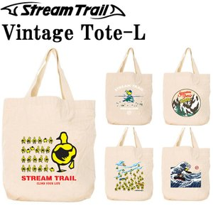 STREAMTRAIL ストリームトレイル ビンテージトートバッグ Lサイズ エコバッグ 手提げ 買い物袋 コットンバッグ あすつく対応|freeline