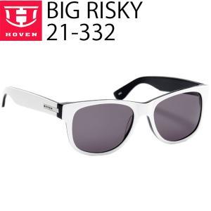HOVEN ホーベン サングラス BIGRISKY 21-332 ブラック・ホワイトフレーム グレイレンズ|freeline