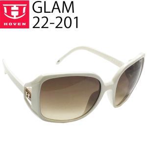 HOVEN ホーベン サングラス GLAM  22-201 ホワイトフレーム ブラウンフェードレンズ あすつく対応|freeline