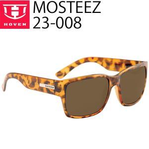 HOVEN ホーベン 偏光レンズサングラス MOSTEEZ 23-008 アニマルトーツ(べっ甲) ブラウンポラライズドレンズ|freeline