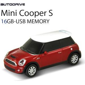 AUTODRIVE オートドライブ16GB MINI COOPER-S RED USBメモリー 外付けストレージ ミニクーパー【あすつく対応】|freeline