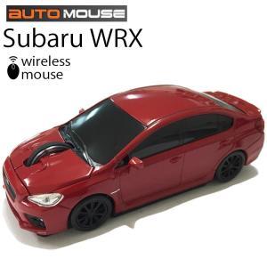 送料無料 AUTOMOUSE オートマウス SUBARU WRX レッド スバルWRX型ワイヤレスマウス 2.4GHz あすつく対応|freeline