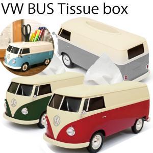 フォルクスワーゲン T1バス型ティッシュケース ワーゲンバス  ペン立て 公式ライセンス商品 あすつく対応|freeline
