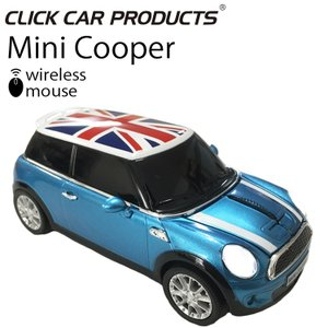 CLICK CAR MOUSE ミニクーパーS クリックカーマウス MINI COOPER S エレクトリックブルーUK 光学式ワイヤレスマウス 電池式 あすつく対応|freeline